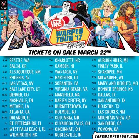Warped tour dates again