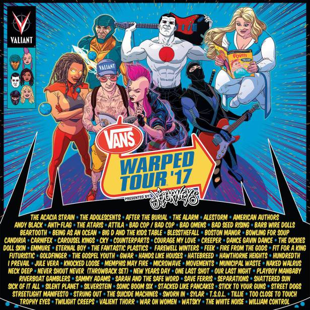Warped Tour Line Up Announced!